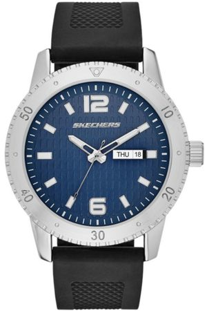 Skechers Men's Textured Dial Silicone SR5003 Reloj para Caballero Color Negro