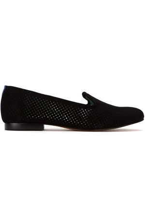 Blue Bird Shoes Mujer Mocasines - Perforated suede loafers