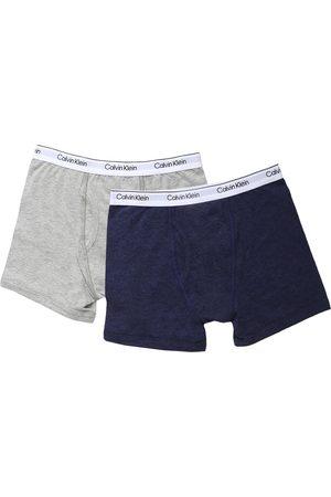 Boxers jaspeados Calvin Klein de algodón para niño
