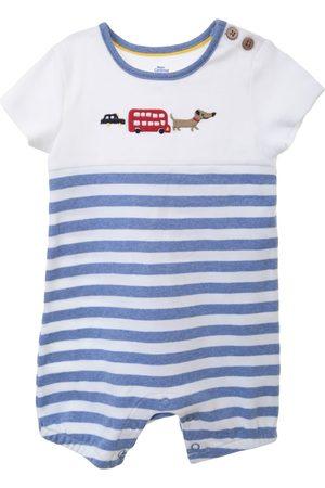 Jumpsuit a rayas Mon Caramel de algodón para niño
