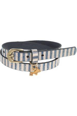 Cinturón a rayas Ferrioni de piel para niña