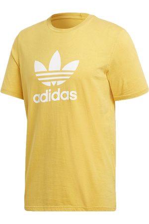 Playera Adidas Originals cuello redondo algodón amarilla