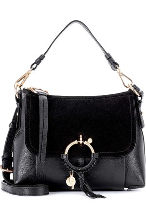 Chloé Joan Small leather and suede crossbody bag