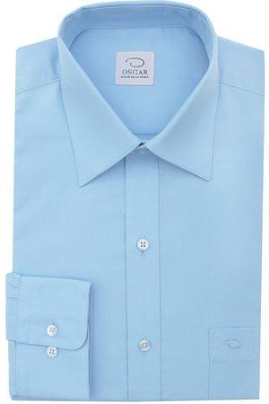 Camisa de vestir Oscar de la Renta corte regular fit cuello inglés algodón