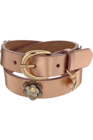 Cinturón liso Ferrioni de piel para niña
