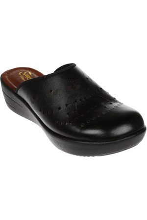 Sandalia con diseño corte láser Suave Pies de piel