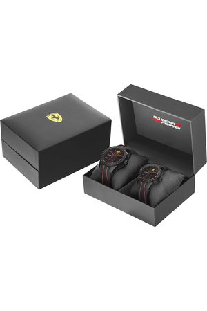Box set de reloj para caballero Ferrari Red Rev 870021