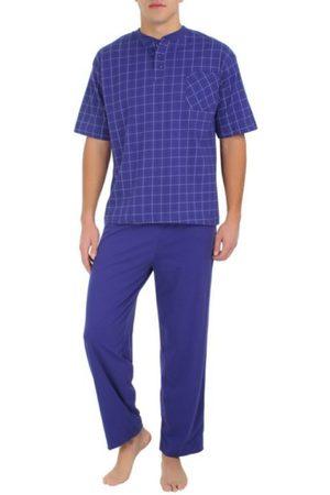 JBE Conjunto Pijama a Cuadros Cuello Redondo de Algodón Poliéster