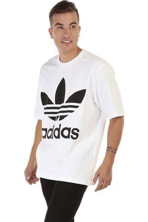 Playera Adidas Originals cuello redondo algodón blanca