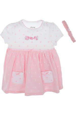 Vestido pañalero a lunares Little Me de algodón para bebé