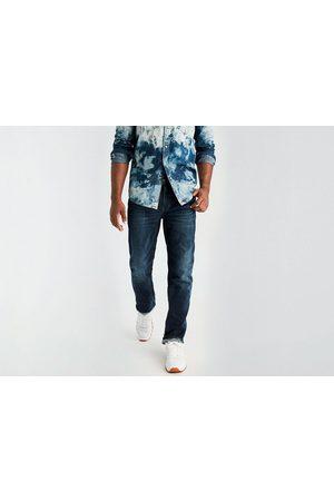 Jeans American Eagle corte straight índigo