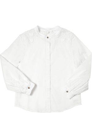Chloé Camisa De Satén Y Algodón