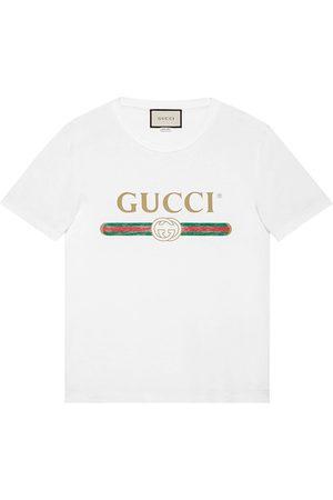 Gucci Playera con efecto lavado y estampado