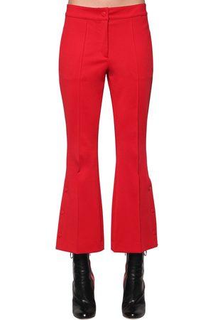 MARCO DE VINCENZO Pantalones Cropped Acampanados De Jersey Techo