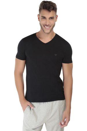 Hombre Camisetas interiores - Camiseta Armani cuello V algodón negra