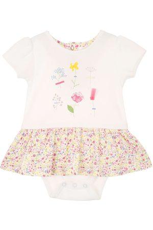 Vestido pañalero Mon Caramel de algodón para niña