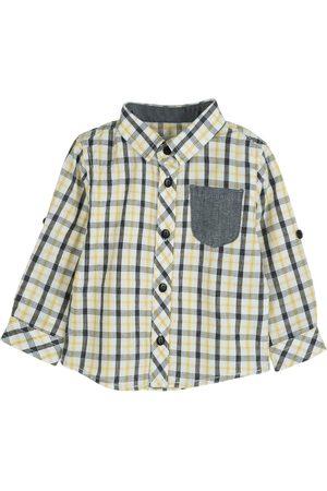 Camisa a cuadros Mon Caramel de algodón para bebé