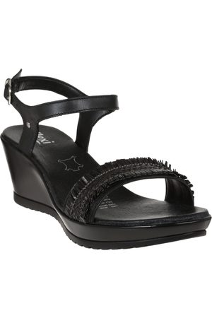 Sandalia texturizada Flexi piel negra