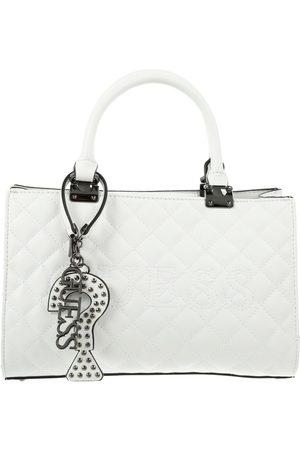 Bolsa satchel capitonada Guess blanca
