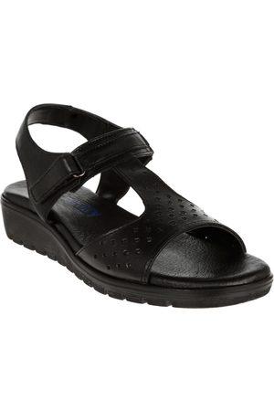 Sandalia con diseño corte láser Flexi piel