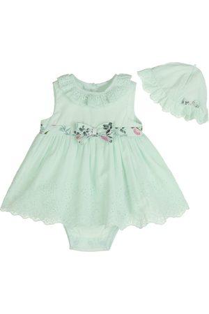 Vestido pañalero liso Little Me de algodón para bebé