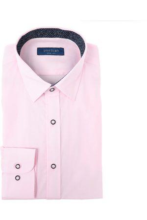 Hombre Camisas - Camisa de vestir Puritan corte slim fit cuello francés algodón