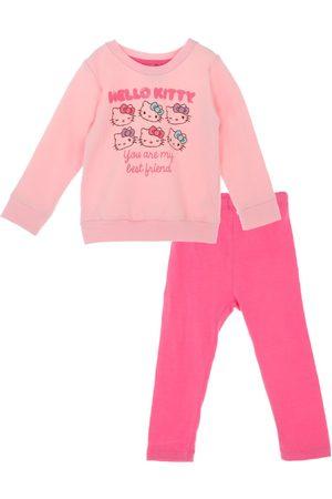Niña Sets de ropa - Conjunto liso Hello Kitty algodón para niña