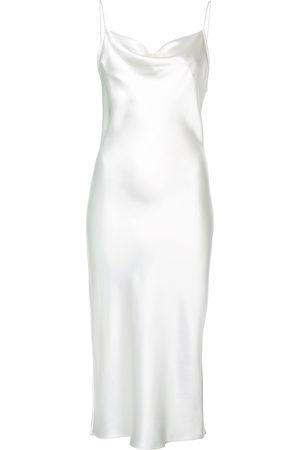 FLEUR DU MAL Slip dress con cuello desbocado