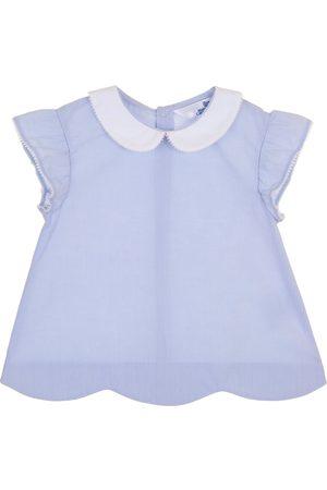 Blusa lisa Mon Caramel de algodón para bebé