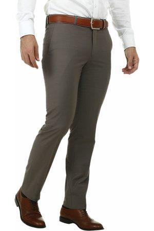 Pantalón de vestir Calvin Klein corte regular fit café claro