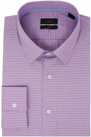 Camisa de vestir a cuadros JBE corte slim fit cuello francés