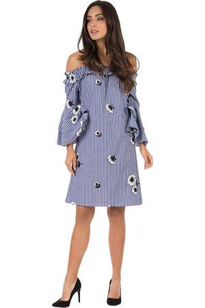 Vestido a rayas Ivonne Petite algodón