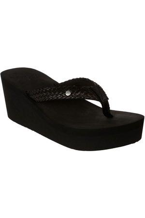 Sandalia lisa Roxy negra