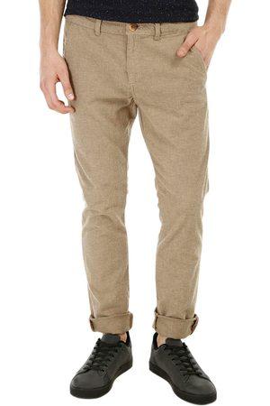 Pantalón casual That's It corte slim fit algodón café