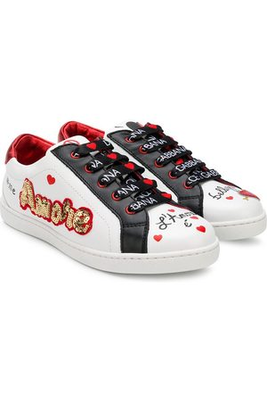 Dolce & Gabbana Amore sequinned sneakers