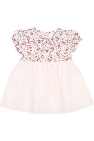 Vestido pañalero floral Mon Caramel de algodón para bebé
