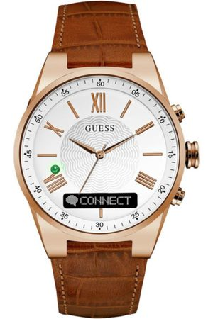 Guess Connect Smartwatch Reloj para Caballero Piel Café