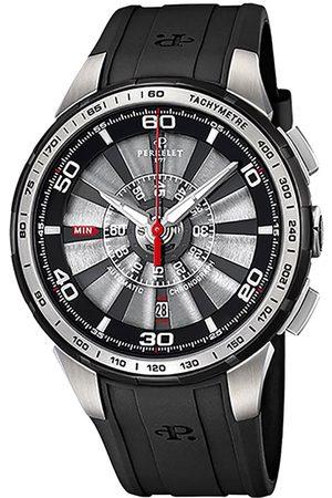 Reloj unisex Perrelet Turbine Chrono A1074/2 negro