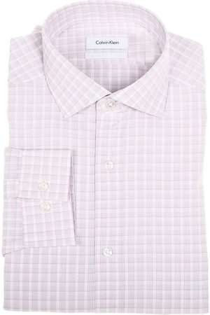 Camisa de vestir a cuadros Calvin Klein corte slim fit cuello italiano