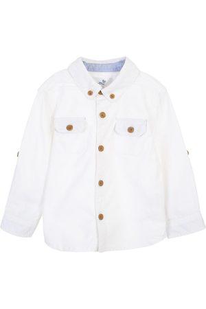 Camisa lisa Mon Caramel de algodón para bebé