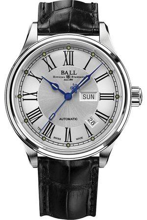 Reloj unisex Ball Trainmaster Roman NM1058D-L4J-WH negro