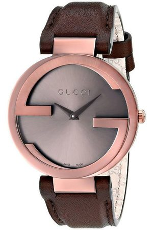 Reloj unisex Gucci Interlocking YA133309 café