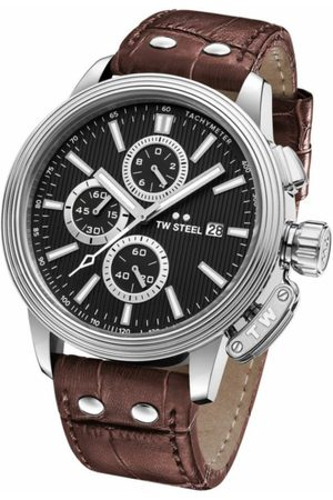 Reloj para caballero Tw Steel Adesso CE7005 café obscuro