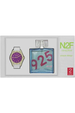 Box set de reloj para dama Nine2Five Fragrance AFGC12BLRS.SET