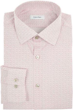 Camisa de vestir con diseño gráfico Calvin Klein corte slim fit cuello francés r