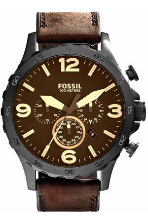 Fossil Nate JR1487 Reloj para Caballero Color Café
