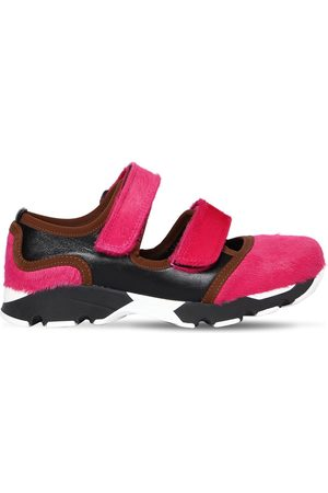 Marni Sneakers De Piel De Potro Y Piel 20mm