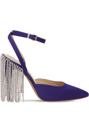 """AREA Zapatos """"chandelier"""" De Satén Con Cristales 110mm"""