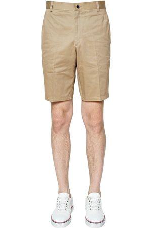 Thom Browne Pantalones Cortos Chinos De Satga De Algodón
