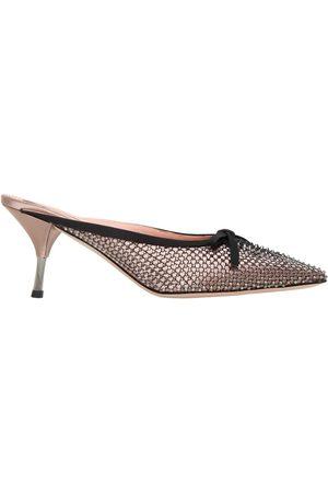 Rochas Zapatos Mules De Satén 70mm